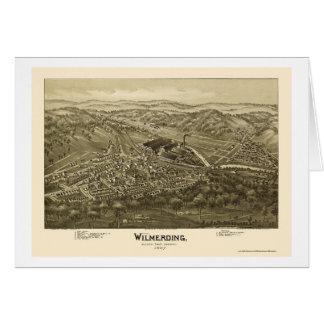 Wilmerding, mapa panorámico del PA - 1897 Tarjeta De Felicitación