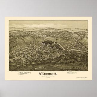 Wilmerding, PA Panoramic Map - 1897 Poster