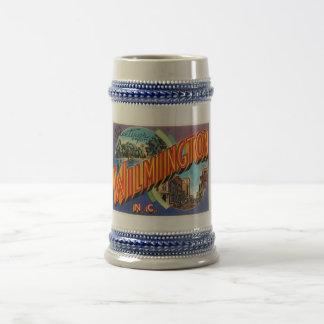 Wilmington #2 North Carolina NC Vintage Postcard- Beer Stein