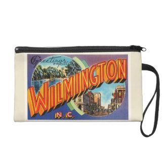 Wilmington #2 North Carolina NC Vintage Postcard- Wristlet