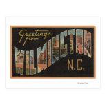 Wilmington, Carolina del Norte - escenas grandes Postal