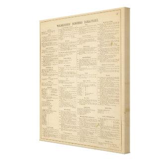 Wilmington Delaware business directory Canvas Print