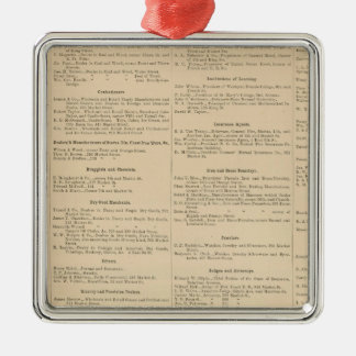 Wilmington Delaware business directory Square Metal Christmas Ornament