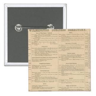 Wilmington Delaware business directory Pinback Button