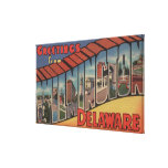 Wilmington, Delaware - Large Letter Scenes Stretched Canvas Prints