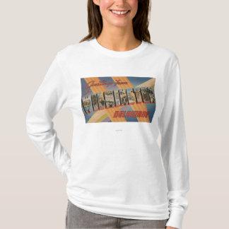 Wilmington, Delaware - Large Letter Scenes T-Shirt