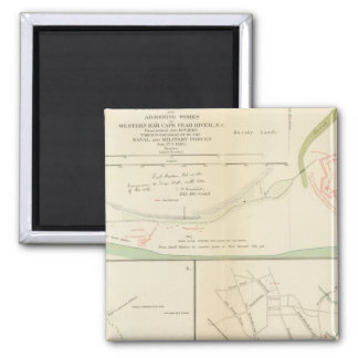 Wilmington, Ft Caswell, Smith's Island, Augusta 2 Inch Square Magnet