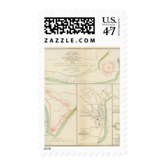 Wilmington, Ft Caswell, Smith's Island, Augusta Postage