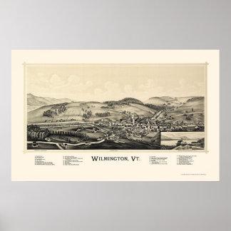 Wilmington, mapa panorámico del VT - 1891 Impresiones
