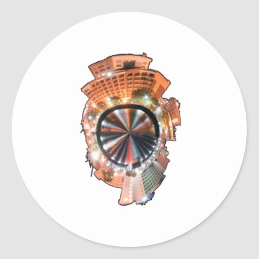 wilmington nc mini planet round stickers