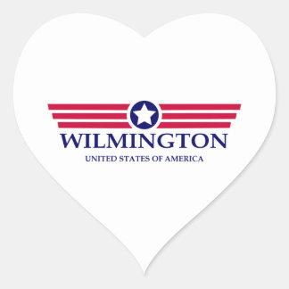 Wilmington NC Pride Heart Sticker