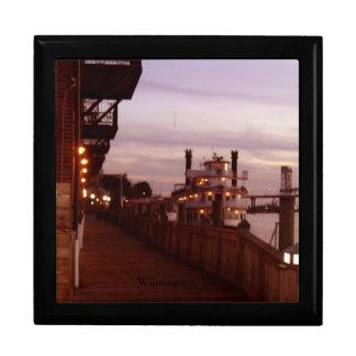 Wilmington NC, puesta del sol del río del miedo de Caja De Joyas