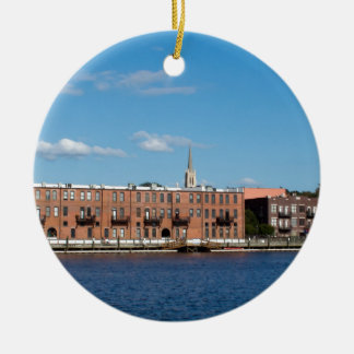 Wilmington NC Riverfront Ceramic Ornament