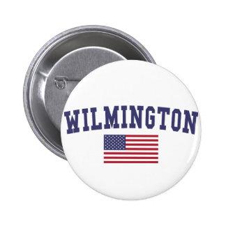 Wilmington NC US Flag Pinback Button