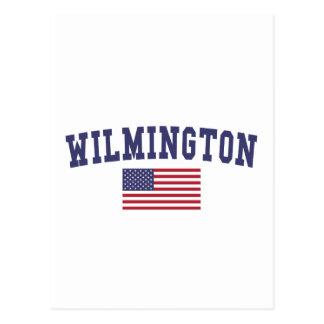 Wilmington NC US Flag Postcard