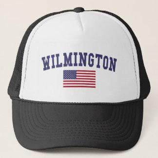Wilmington NC US Flag Trucker Hat