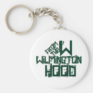 Wilmington North Carolina Basic Round Button Keychain