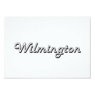 Wilmington North Carolina Classic Retro Design 5x7 Paper Invitation Card