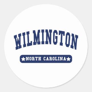 Wilmington North Carolina College Style tee shirts Classic Round Sticker