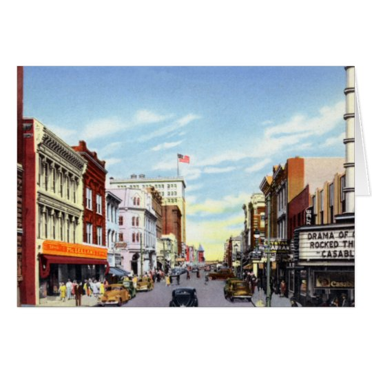Wilmington North Carolina Front Street Card
