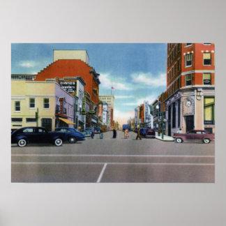 Wilmington North Carolina Front Street Poster