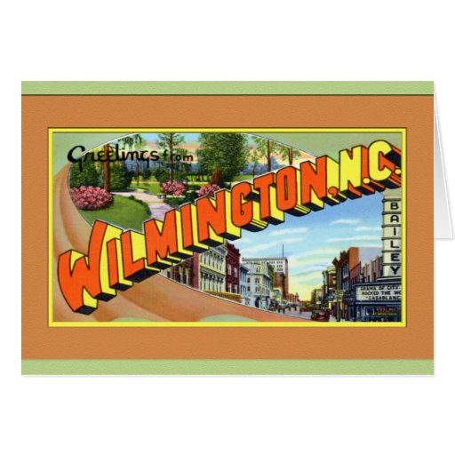 Wilmington North Carolina Large Letter Greetings Greeting Card