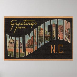 Wilmington, North Carolina - Large Letter Scenes Poster