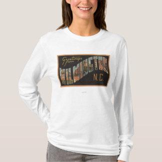 Wilmington, North Carolina - Large Letter Scenes T-Shirt