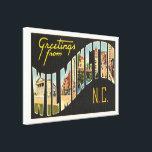 "Wilmington North Carolina NC Old Vintage Postcard- Canvas Print<br><div class=""desc"">Wilmington,  North Carolina NC  A nostalgic,  vintage travel souvenir postcard image,  an authentic retro design. Greetings from the American Travelogue Virtual Touring Company!</div>"