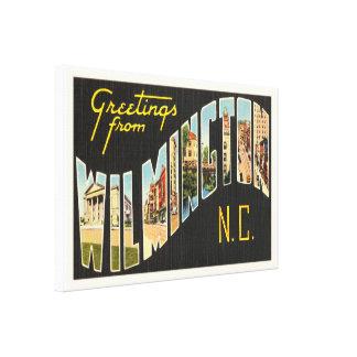 Wilmington North Carolina NC Old Vintage Postcard- Canvas Print