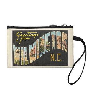Wilmington North Carolina NC Old Vintage Postcard- Coin Wallet