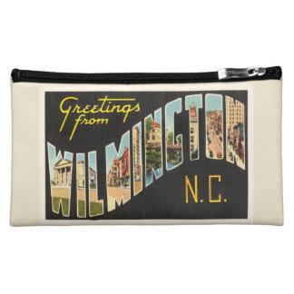 Wilmington North Carolina NC Old Vintage Postcard- Cosmetic Bag