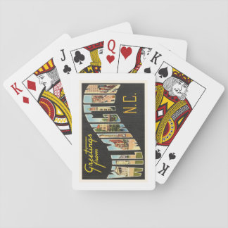 Wilmington North Carolina NC Old Vintage Postcard- Playing Cards