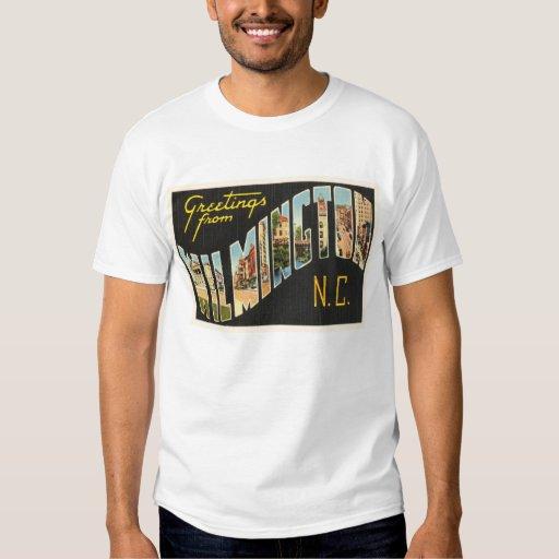 wilmington carolina nc vintage postcard t shirt