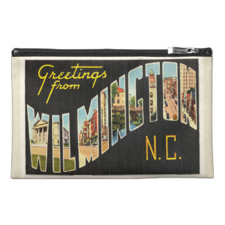 Wilmington North Carolina NC Old Vintage Postcard- Travel Accessory Bag