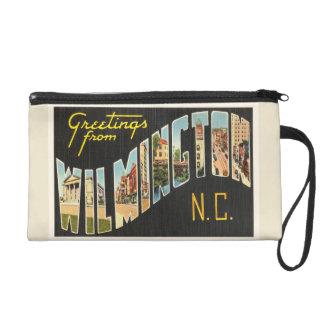 Wilmington North Carolina NC Old Vintage Postcard- Wristlet