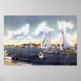 Wilmington North Carolina Sailing Print