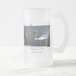 Wilmington, NY--Autumn-2008 Frosted Glass Beer Mug