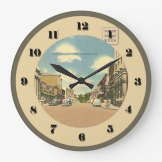 Wilmington Ohio Post Card Clock - South Street