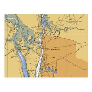 Wilmington postal náutica de la carta del NC