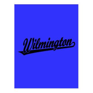 Wilmington script logo in black postcard