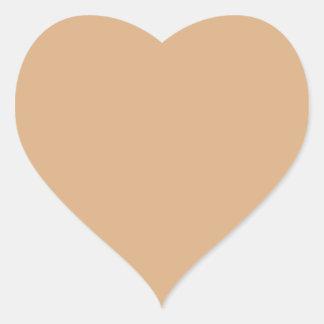 Wilmington Tan Color Heart Sticker