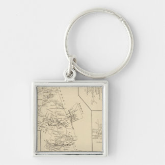 Wilmot, Merrimack County Silver-Colored Square Keychain