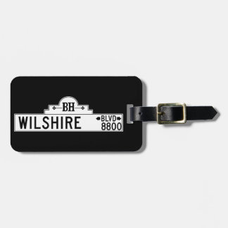 Wilshire Boulevard, Los Angeles, CA Street Sign Luggage Tag