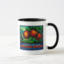 Wilshire's Oak Glen Apple Crate Label Mug
