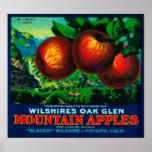 Wilshire's Oak Glen Apple Crate Label Poster