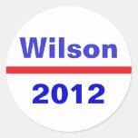 Wilson 2012 etiquetas redondas