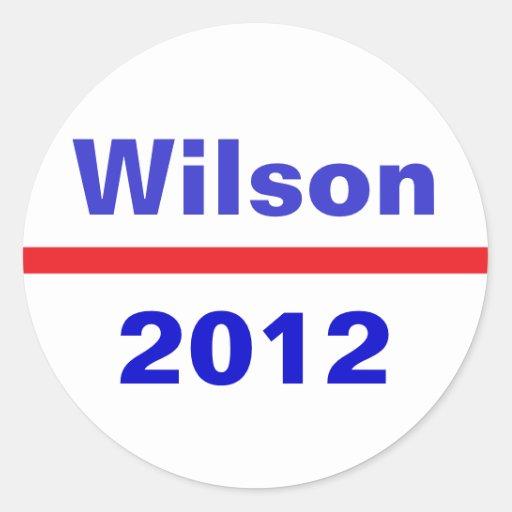Wilson 2012 round stickers