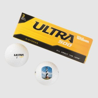 Wilson 500 golf balls with a handsome lighthouse
