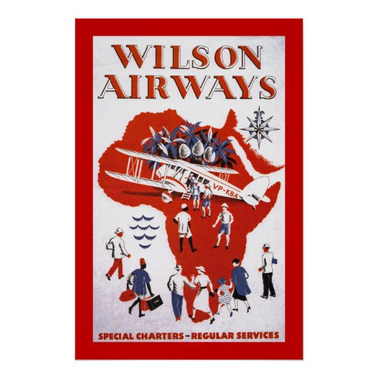 Wilson Airways ~ Africa Poster